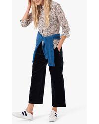 Brora Corduroy Straight Leg Pull On Trousers - Blue