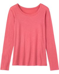 Toast - Long Sleeve Fine Slubby Cotton T-shirt - Lyst