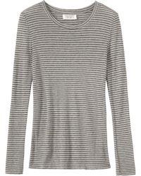 Toast - Block Stripe Wool Tencel T-shirt - Lyst