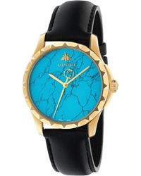 Gucci - Ya126462 Women's Le Marche Des Merveilles Leather Strap Watch - Lyst