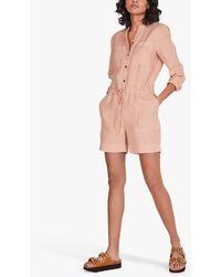 Hush Carina Linen Playsuit - Pink