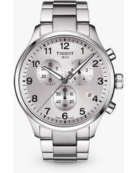 Tissot - T1166171103700 Men's T-sport Chrono Xl Classic Chronograph Date Bracelet Strap Watch - Lyst