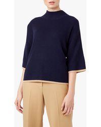 Hobbs Beki Knit Sweatshirt - Blue