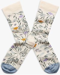 Bonne Maison - River Flower Print Ankle Socks - Lyst