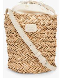 L.K.Bennett Mandy Raffia Cross Body Bucket Bag - Natural