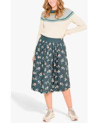 Brakeburn Co-ord Cherry Print Skirt - Green