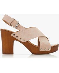 8079aa43e30 Dune Mckenna Velvet Two Part Platform Sandals - Lyst