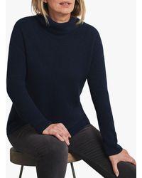 Pure Collection Bardot Cashmere Jumper - Blue