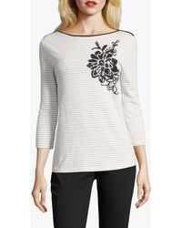 Betty Barclay Sequin Embellished Striped Top - Multicolour