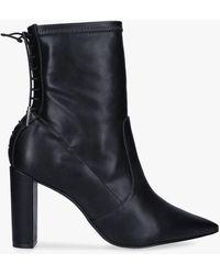 Carvela Kurt Geiger Second Skin Block Heel Ankle Boots - Black