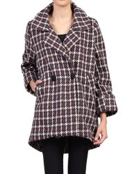 Jolie Moi - Houndstooth Cocoon Coat - Lyst