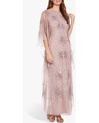 Adrianna Papell Beaded Kaftan Dress - Pink