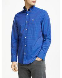 GANT - Herringbone Check Regular Fit Shirt - Lyst