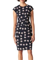 Whistles - Daisy Spot Print Bodycon Dress - Lyst