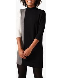 Phase Eight - Charlotte Colour Block Knitted Dress - Lyst
