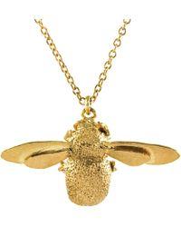 Alex Monroe - 22ct Gold Vermeil Bumble Bee Pendant Necklace - Lyst