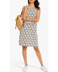 White Stuff Adriana Geometric Print Slip Cotton Dress - Multicolour