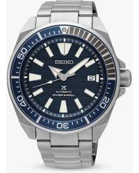 Seiko Prospex Samurai Automatic Bracelet Strap Watch - Metallic