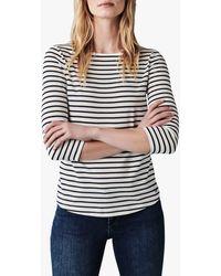 Crew Essential Breton Stripe Top - Blue