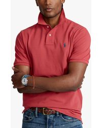 Ralph Lauren Polo Custom Slim Polo Shirt - Red