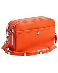 Jigsaw Wren Leather Cross Body Bag - Orange