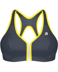 Shock Absorber - Active Zipped Plunge Non-wired Sports Bra - Lyst