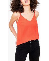 Oasis V-neck Camisole Top - Orange