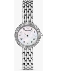 Emporio Armani Ar11354 Bracelet Strap Watch - Metallic