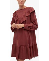 Mango Flowy Ruffled Smock Dress - Pink