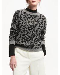 Marella - Gino Leopard Print Jumper - Lyst