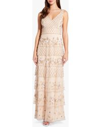 Adrianna Papell - Tiered Bead Gown - Lyst