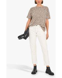 Hush Leopard Print T-shirt - Brown