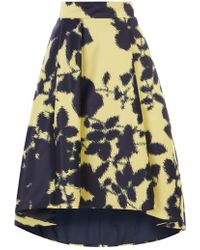 Coast Zainy Printed High Low Skirt - Black