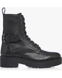 Bertie Paprika Biker Boots - Black