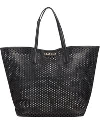 Seafolly Double Dot Tote - Black