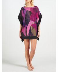 Ted Baker Abstract Jungle Kaftan - Pink