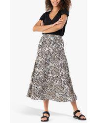 Jolie Moi Sara Animal Print Midi Skirt - Multicolour