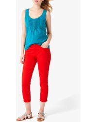 White Stuff Southern Seas Cropped Jeans - Red