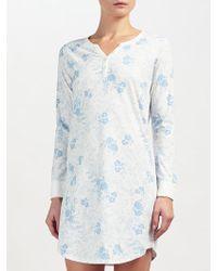 John Lewis - Carmen Floral Print Long Sleeved Night Dress - Lyst