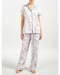 John Lewis Martha Floral Short Sleeve Pyjama Set
