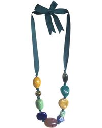 John Lewis - One Button Mixed Bead Tie Necklace - Lyst