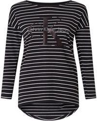 CALVIN KLEIN 205W39NYC - Trix-8 Stripe Logo T-shirt - Lyst