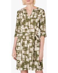 Jaeger Abstract Linen Mini Dress - Natural
