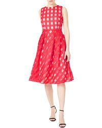 Precis Petite - Check Flared Dress - Lyst