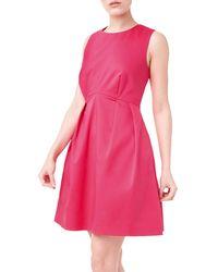 Precis Petite Jeff Banks Flared Dress - Pink