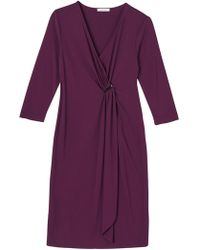 Precis Petite - Eleanor Three-quarter Sleeve Wrap Dress - Lyst