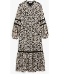 Somerset by Alice Temperley - Animal Tiered Midi Dress - Lyst