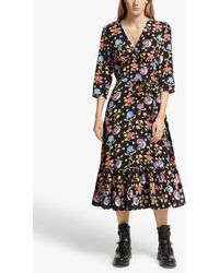 Somerset by Alice Temperley Peruvian Floral Dress - Black