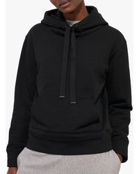 Jigsaw Boyfriend Cotton Hoodie - Black