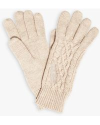 Phase Eight Kora Cable Knit Glove - Natural